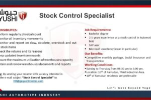 Stock Control Specialist at Geyushi Motors